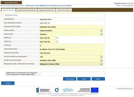 Zintegrowany System Zarządzania ERP - Elektroniczny Obieg Dokumentów