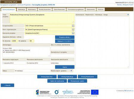 Zintegrowany System Zarządzania ERP - Zarządzanie projektami